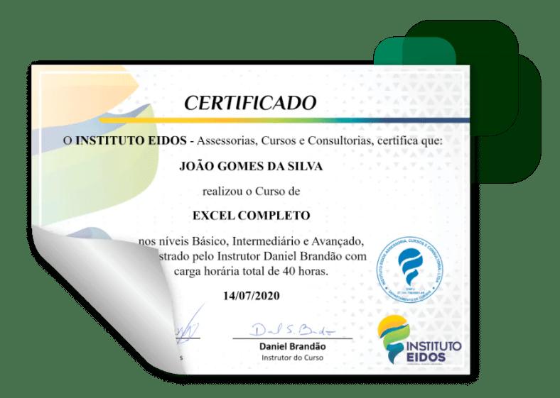 curso certificado2 excel - Curso De Excel Com Certificado.