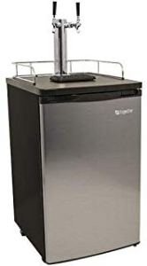 Edgestar KC2000S Twin Full Size SS Dual Tap Kegerator and Draft Beer Dispenser