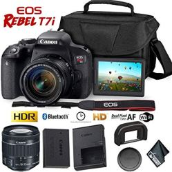 Best Entry Level DSLR Package Featuring The Canon Rebel T7i with 18-55mm Lens