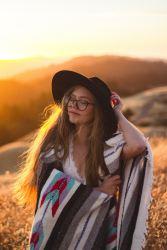 Beautiful woman wearing a modern sombrero