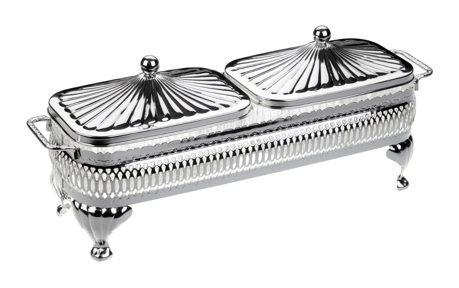Butter Jam Dish In A Silver Plated Frame With Tarnish