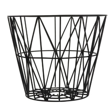 ferm living wire basket black small h35 x b40 cm by scan