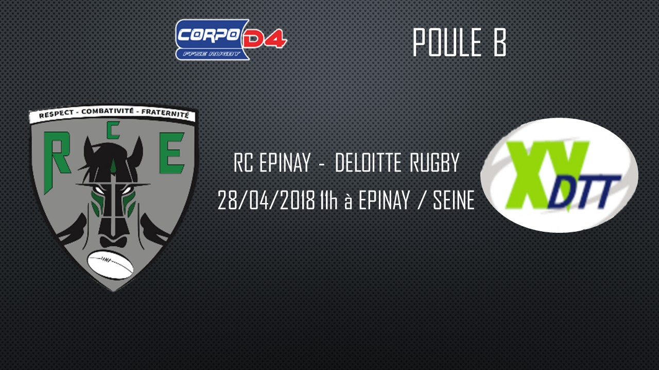 [AVANT-MATCH CORPO D4] RC EPINAY – DELOITTE RUGBY