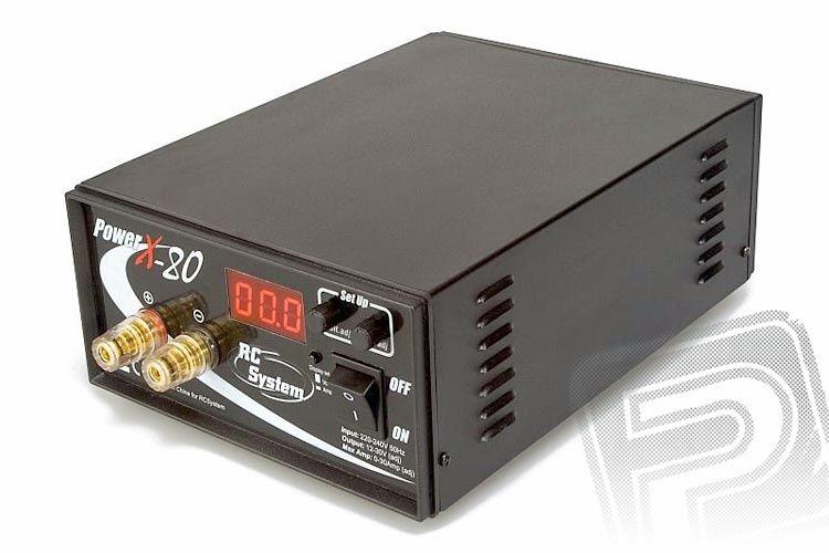 Power Supply RC SYSTEM X-80 (12-30V / 0-30A)