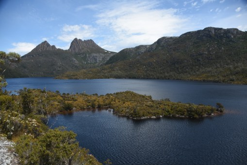 Dove Lake with Cradle Mountain on the left side behind it