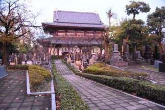 Zozoji Temple and graveyard