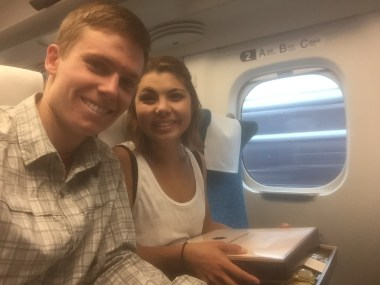 on the bullet train