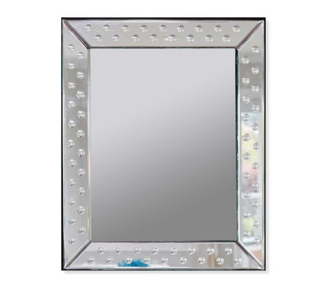 Rectangular handcrafted glass mirror for bathroom mirrors.