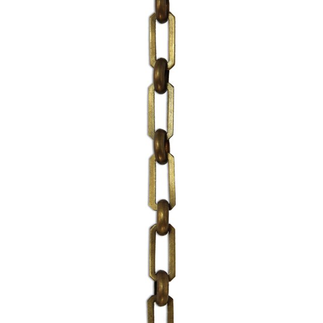 Solid brass chandelier chain in antique brass finish.