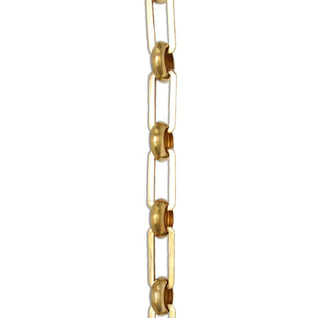 Solid brass chandelier chain in polished brass finish.