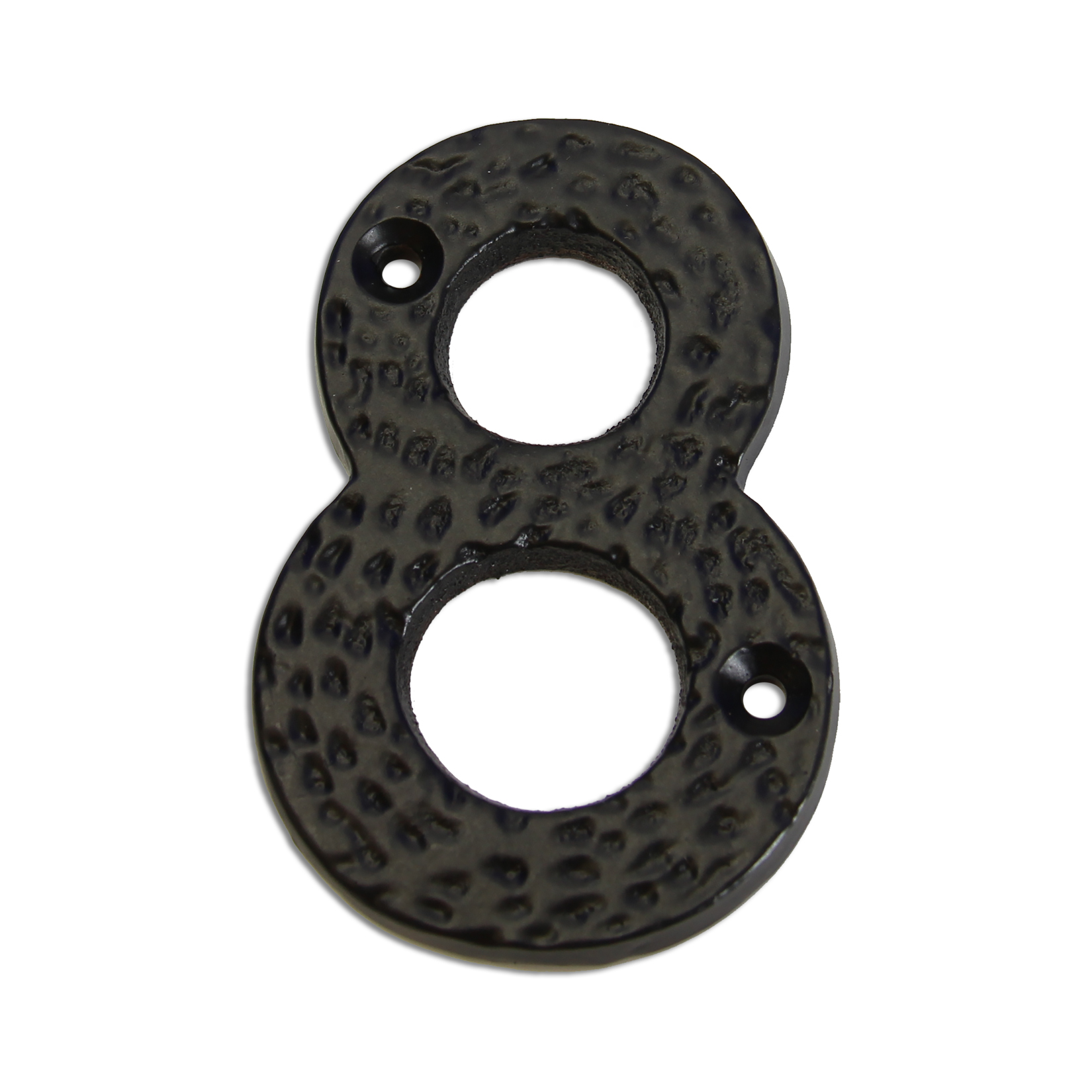 3-inch iron metal house number in iron black finish - metal number 8