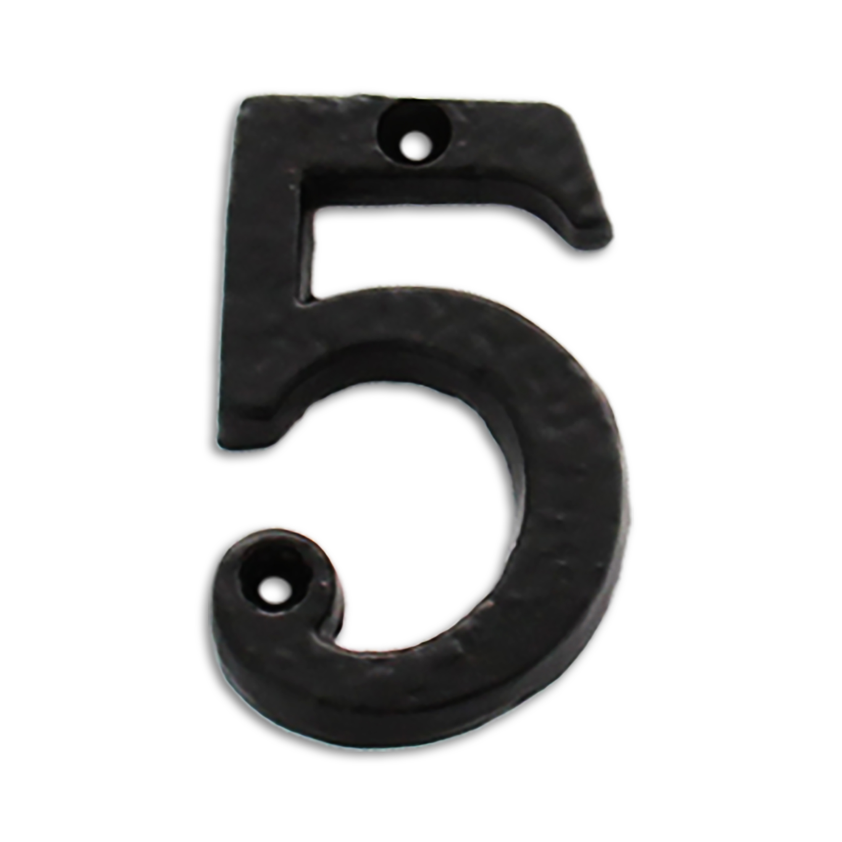 3-inch iron metal house number in iron black finish - metal number 5