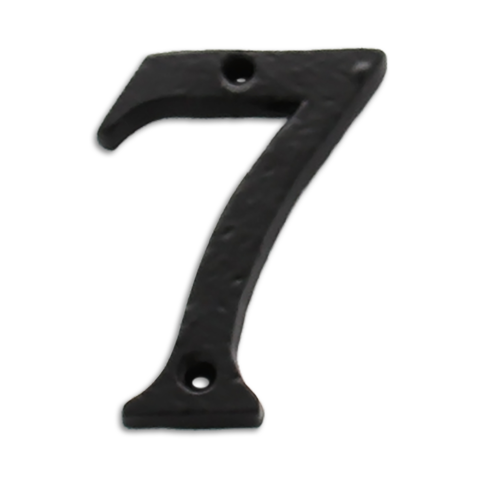 3-inch iron metal house number in iron black finish - metal number 7