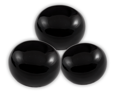 Elegance door knob and cabinet knobs are available in a variety of crystal and natural quartz materials including Obsidian.