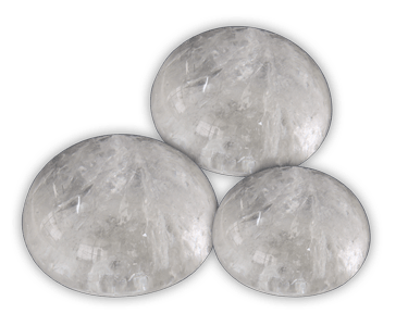 Elegance door knob and cabinet knobs are available in a variety of crystal and natural quartz materials including Rock Crystal.