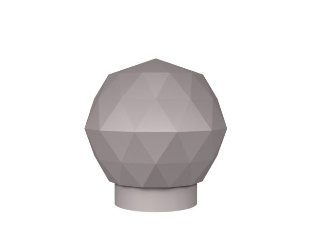 3D rendering of Elegance Chateau crystal cabinet knobs.