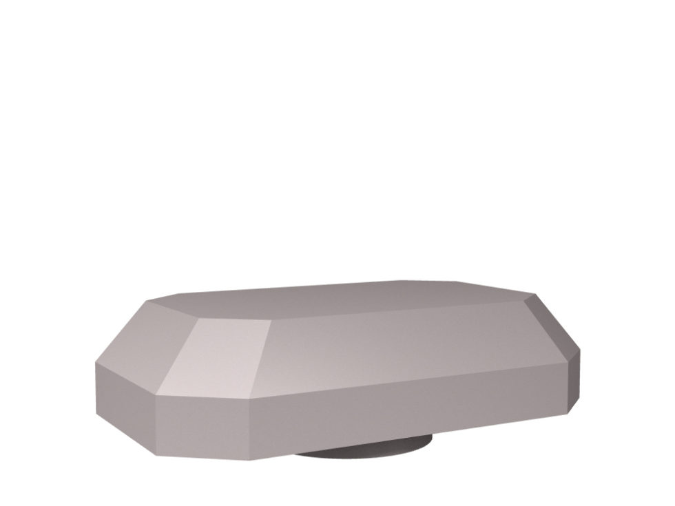 3D rendering of Elegance Jewel rock crystal cabinet knobs.