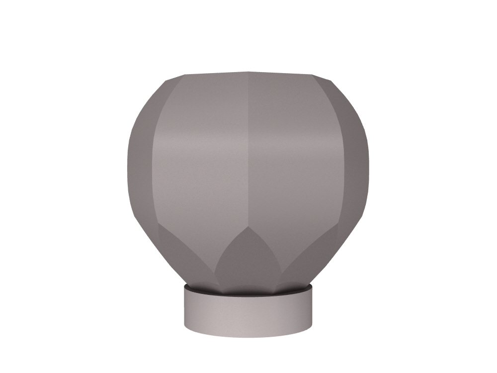 3D rendering of Elegance Octagonal small cabinet knobs.