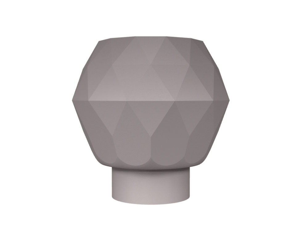 3D rendering of Elegance Tulip Diamond large cabinet knobs.