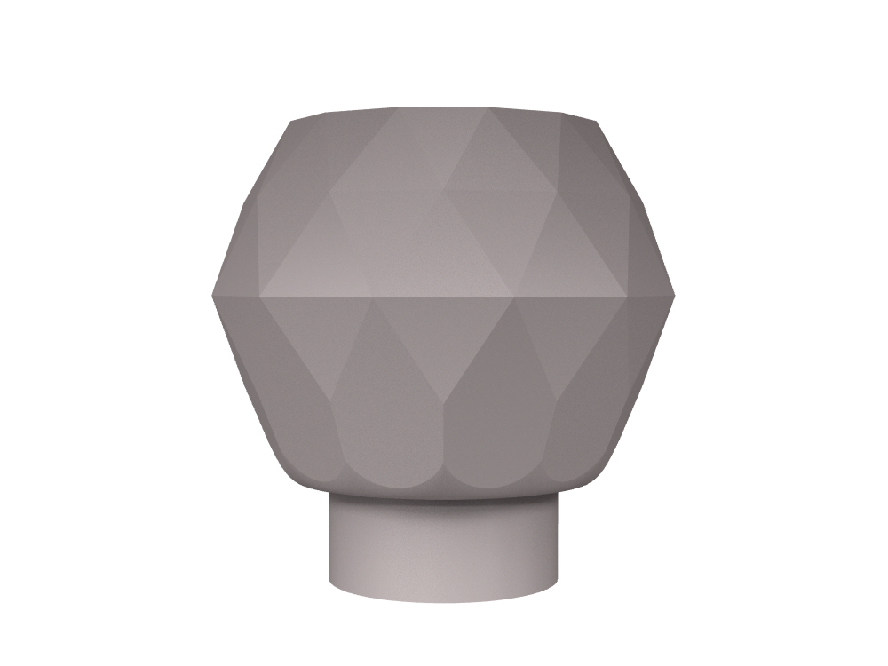 Tulip Diamond Cut Clear Crystal Large Cabinet Knob In Polished Nickel