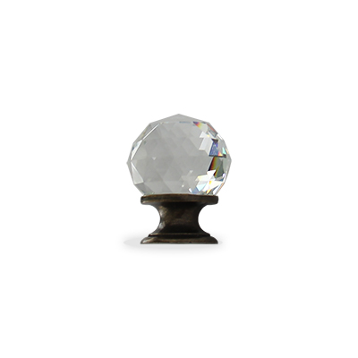 Chateau crystal cabinet knob in oil bronzed black finish