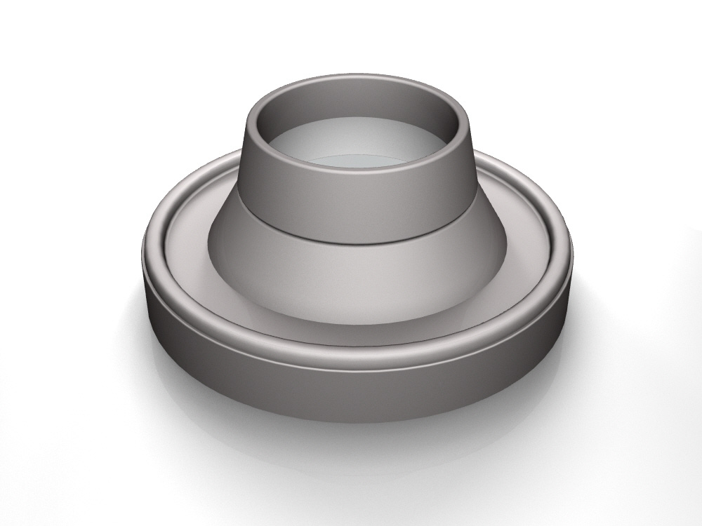 3D rendering of Elegance's High Top door knob base design