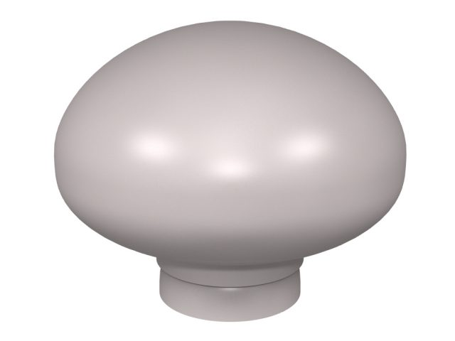 Mushroom door knob design for stone, glass and crystal door knobs