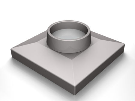 3D rendering of Elegance's Square door knob base design