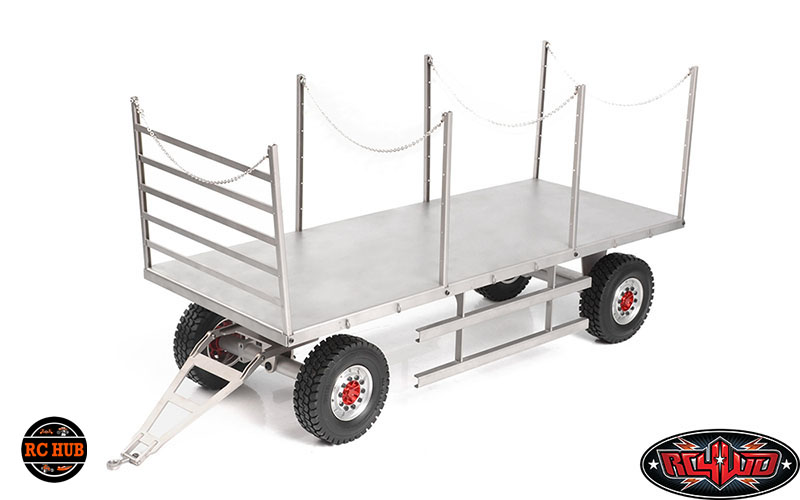 RC4WD 4 WHEEL STEEL STAKE TRAILER