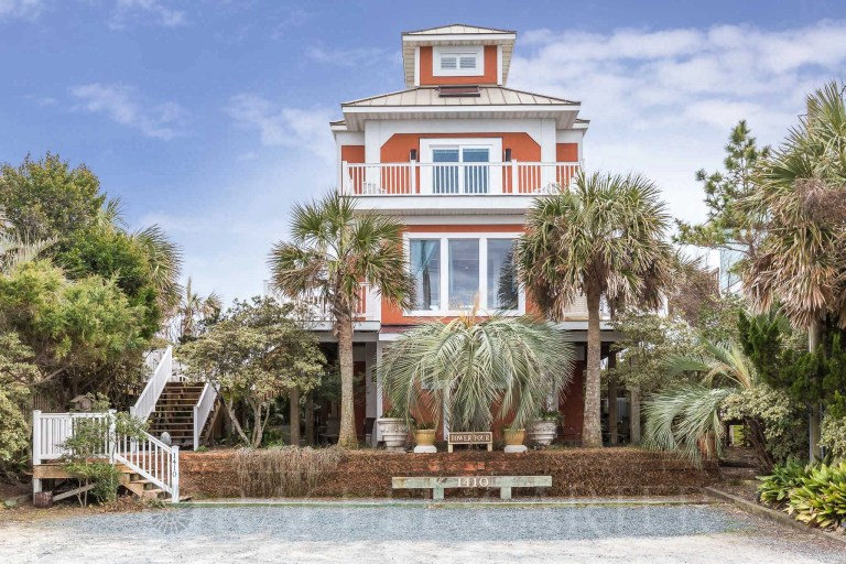 Missile Tower 4 Turned Vacation Rental Surf City NC Topsail Rachel Carter Images