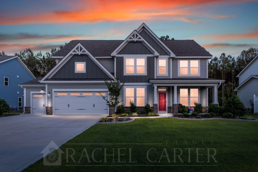 twilight professional real estate photography spring exterior sneads ferry nc