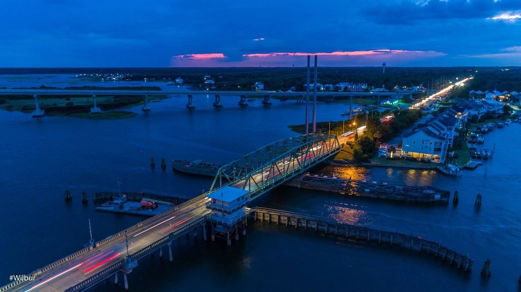 Surf City Swing Bridge Captured by Russell Williams rci plus topsail