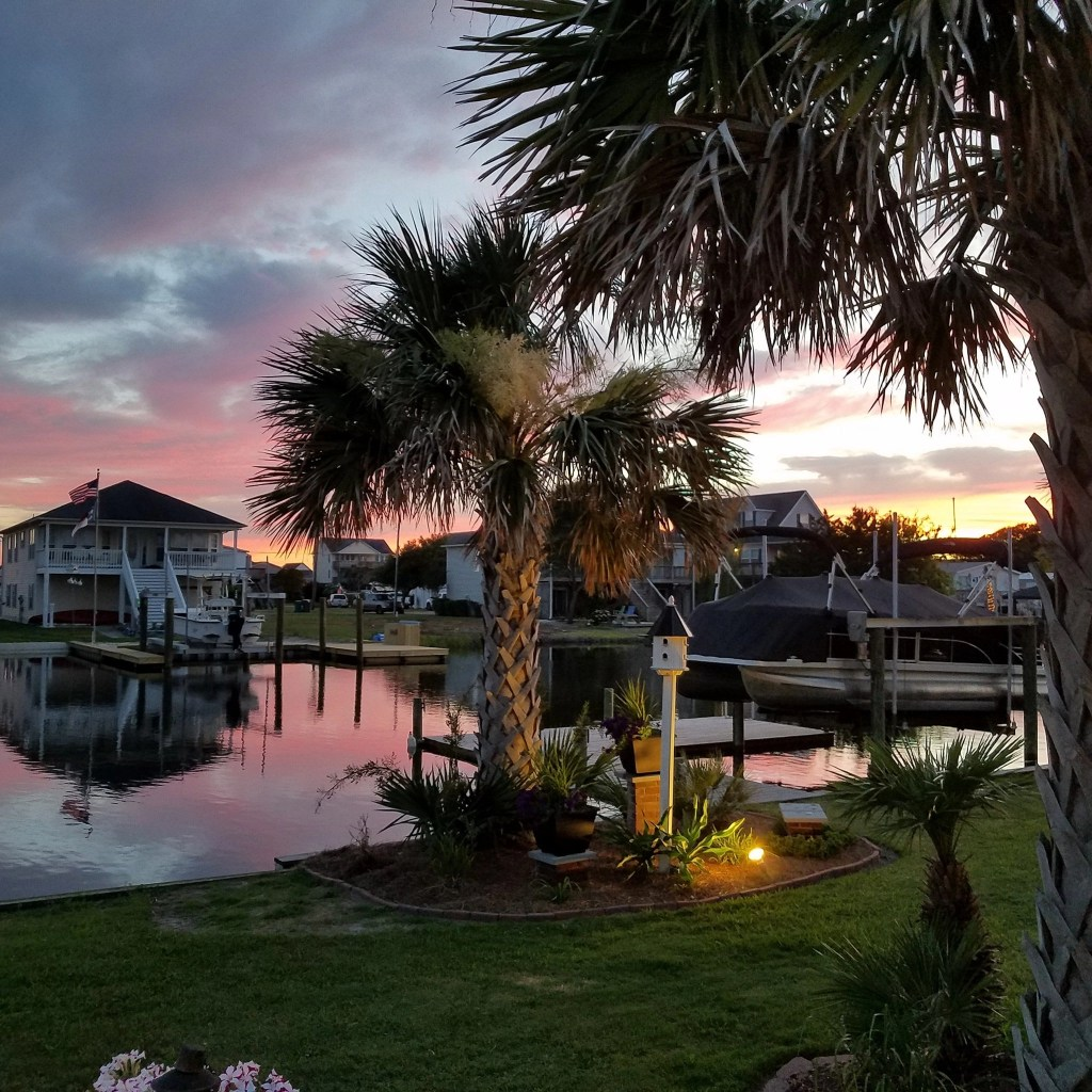 The Canals of Surf City at Sunset by Mike Clark - RCI Plus Topsail