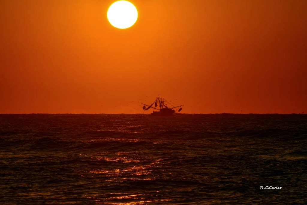 Trawler at Sunrise, North Topsail Beach, captured by Bob Carter