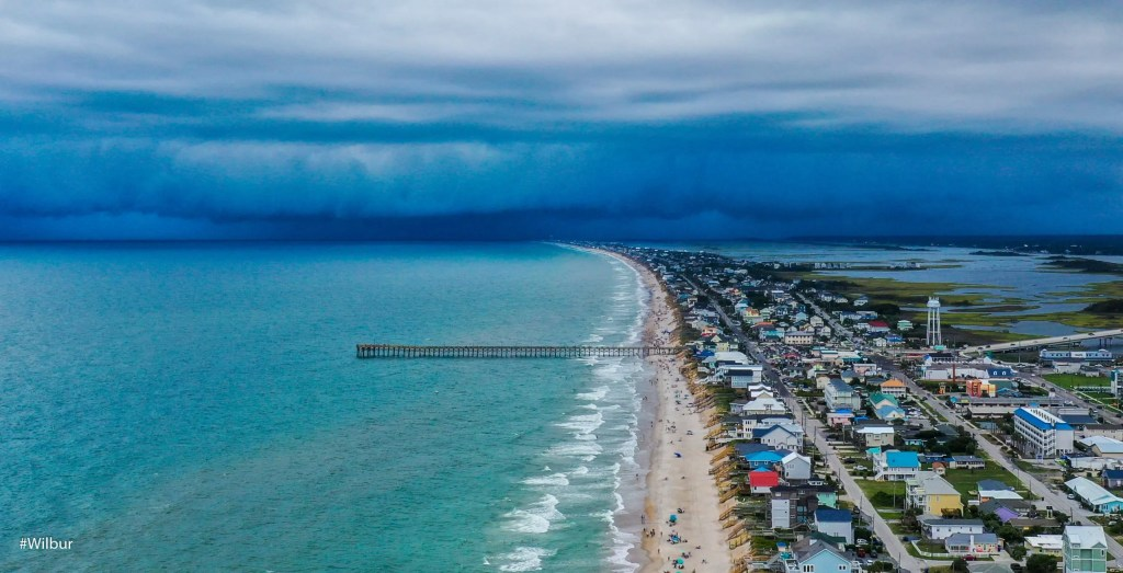 Summer Storm, Surf City, captured by Russell Williams