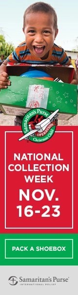 "Samaritan's Purse ""Operation Christmas Child""  - National Collection Week for shoe boxes"