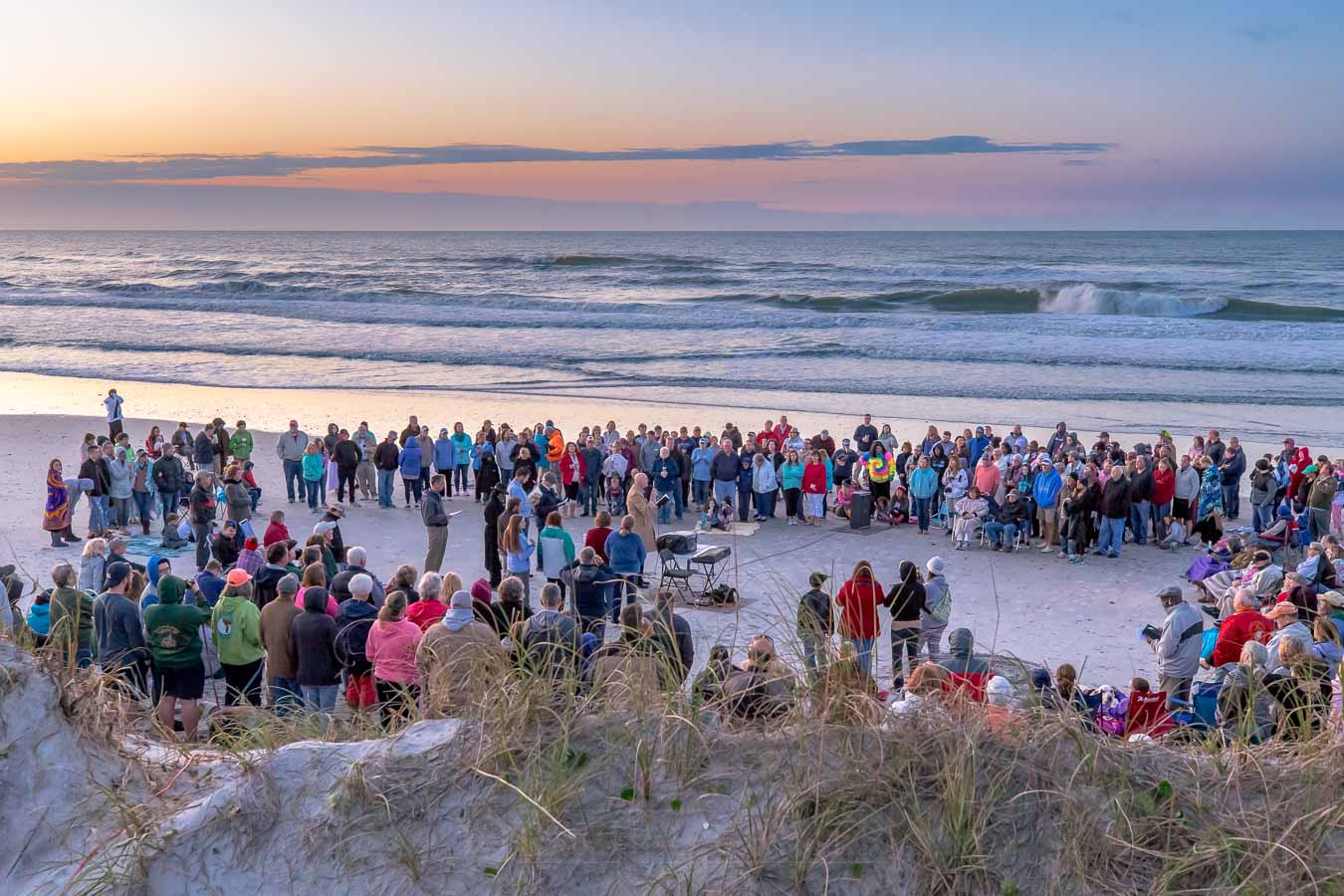 easter sunrise service 2019 - north topsail beach