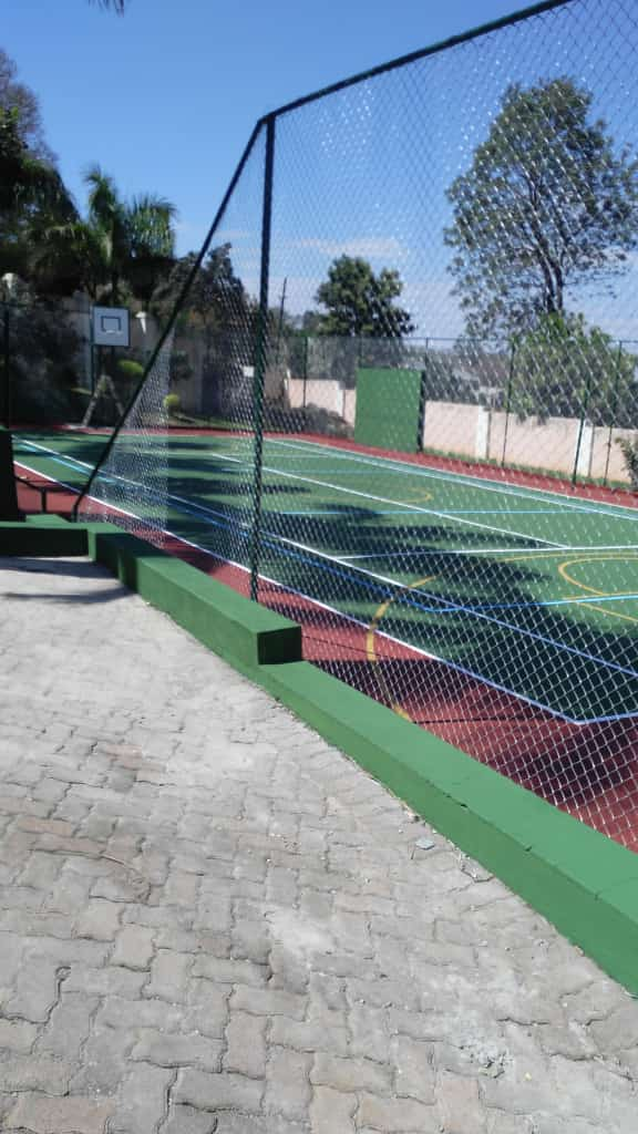 3b. Basketball court and fence after renovations