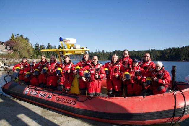 Volunteer members of RCMSAR Station 34 Mill Bay