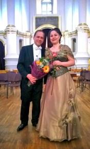 Ольга Рузина и дирижер Эрки Пехк (Эстония)