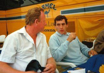 Glynn Pearson (left) with Ayrton Senna