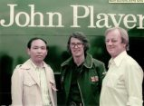 Glynn Pearson (right) with Mr. Shunsaku Tamiya and Jody Scheckter