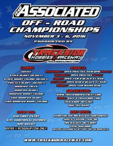 2016 Team Associated Off-Road Championships at Trackside Raceway - Event Flyer