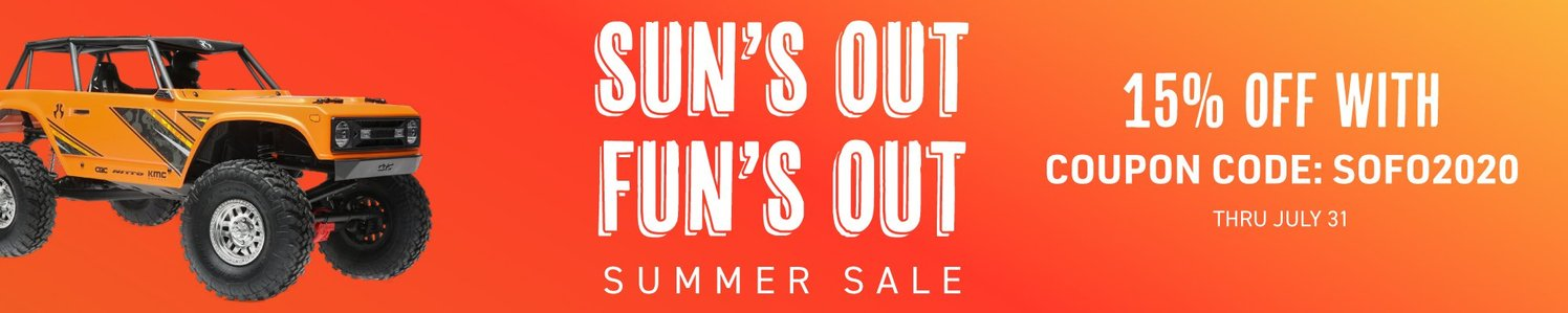 """Save on Select R/C Models & Gear During AMain Hobbies """"Sun's Out, Fun's Out"""" Sale"""