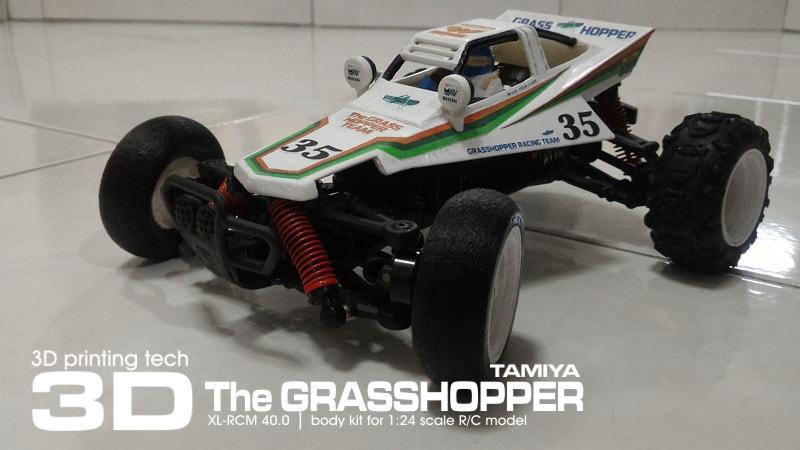 Custom 3D Printed Small-Scale Tamiya Grasshopper