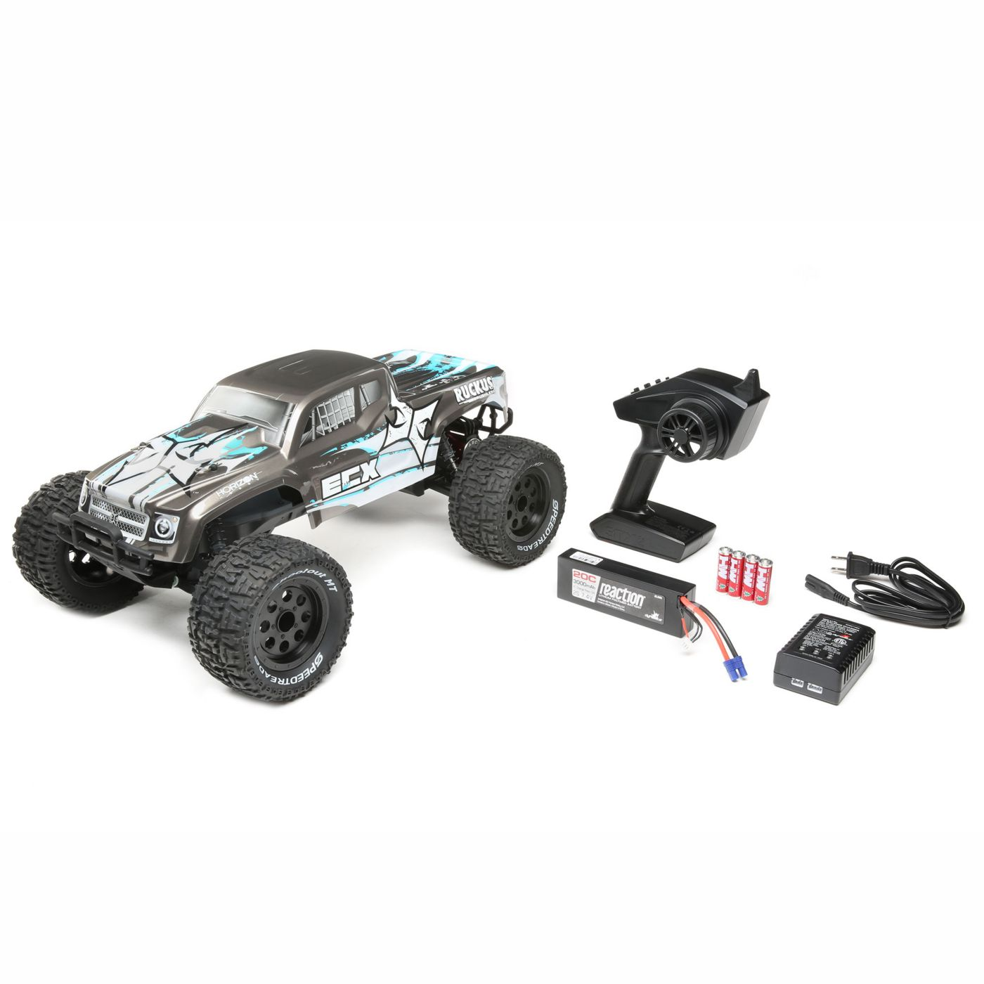 ECX Ruckus RC Monster Truck - RTR Package