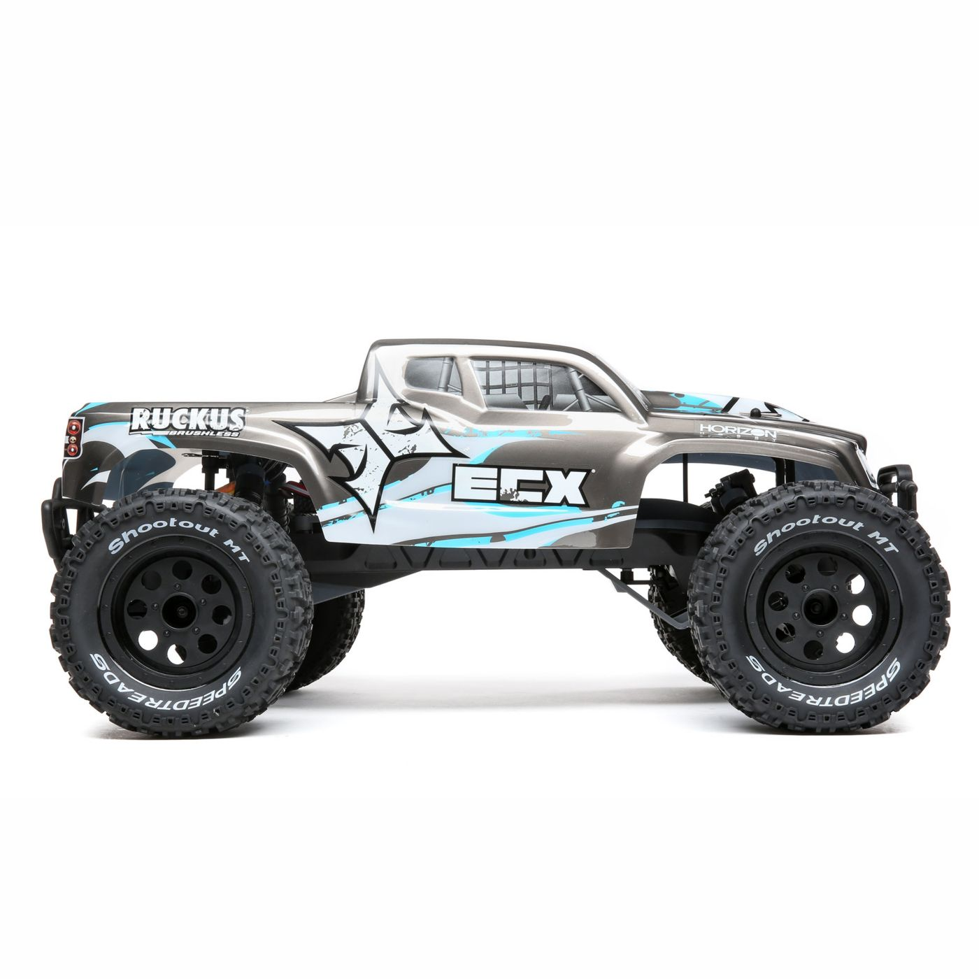ECX Ruckus RC Monster Truck - Side
