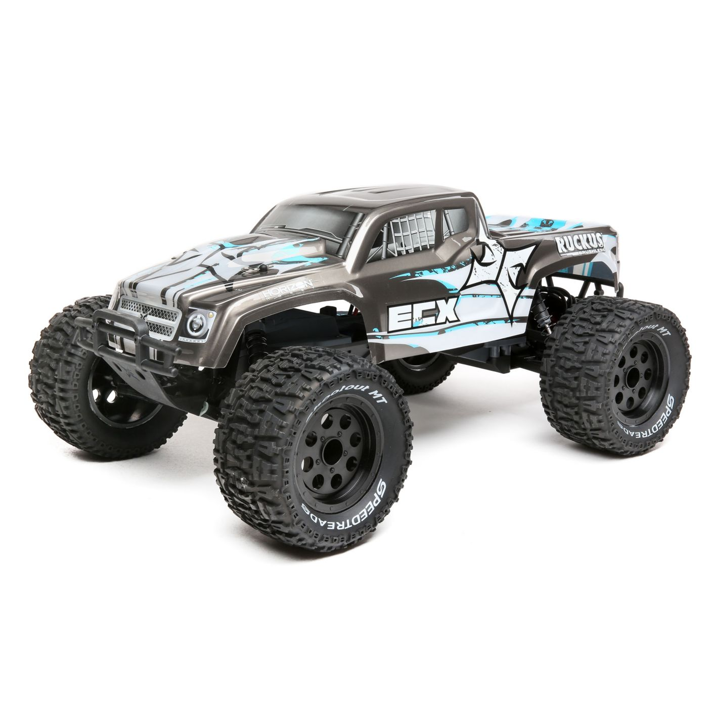 The ECX Ruckus 2WD Brushless, LiPo-powered 1/10-scale Monster Truck