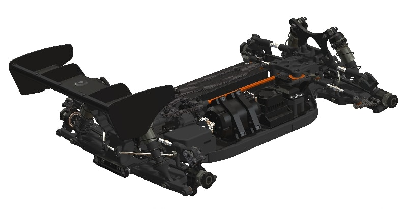 HB Racing E817 Competition Buggy Kit - Rear