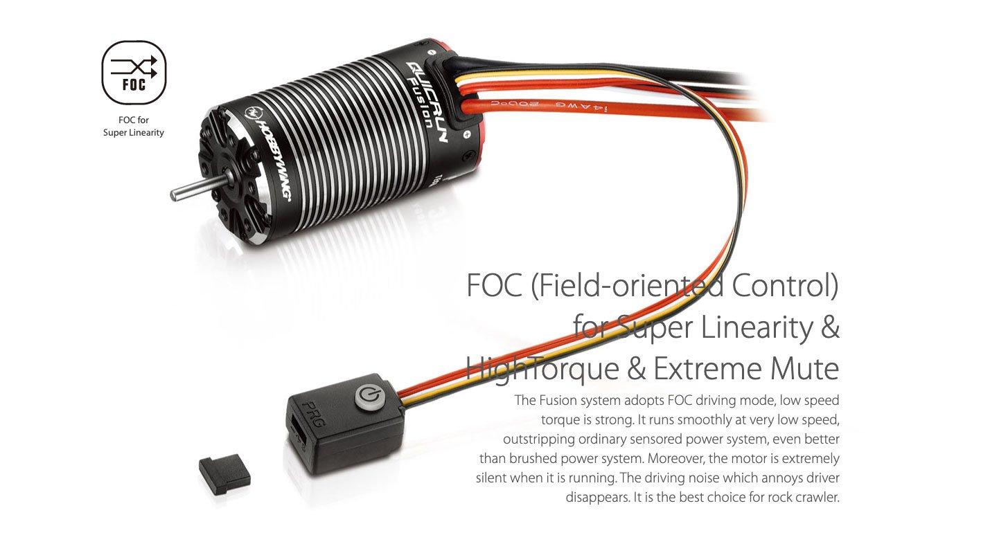 Hobbywing QuicRun Fusion FOC Brushless Crawler System - 2